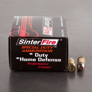 20rds - 380 Auto SinterFire 75gr. Frangible HP Ammo