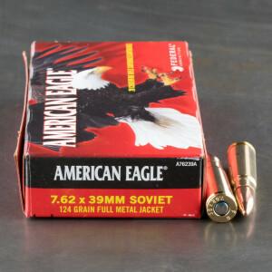 500rds - 7.62x39 Federal American Eagle 124gr. FMJ Ammo