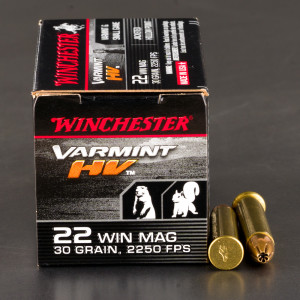 50rds - 22 Mag Winchester Supreme 30gr. Hollow Point Ammo