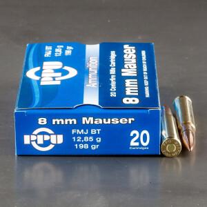 20rds - 8mm Mauser Prvi Partizan 198gr. FMJ Ammo