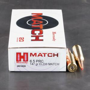20rds – 6.5 PRC Hornady 147gr. ELD Match Ammo