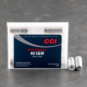 10rds - 40 S&W CCI Shotshells 3/16 oz. #9 Shot Ammo