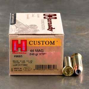 200rds - 44 Mag Hornady 240gr. XTP Hollow Point Ammo
