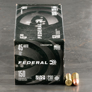 600rds – 45 ACP Federal Black Pack 230gr. FMJ Ammo
