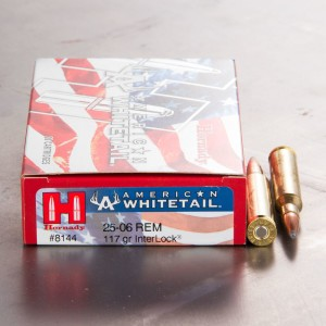 20rds - 25-06 Rem. Hornady American Whitetail 117gr. InterLock BTSP Ammo