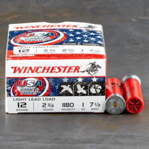 "250rds – 12 Gauge Winchester USA Game & Target 2-3/4"" 1oz. #7.5 Shot Ammo"