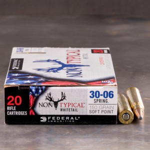 20rds - 30-06 Federal Non-Typical Whitetail 150gr. Non-Typical SP Ammo