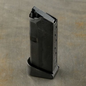 1 Magazine – G43 6 Round 9mm Luger Glock Factory Magazine with Pinky Extension