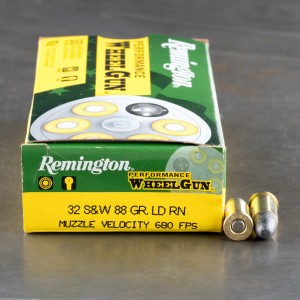 50rds - 32 S&W Remington Performance Wheelgun 88gr. LRN Ammo