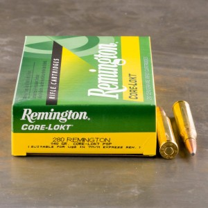 20rds - 280 Remington 140gr. Core-Lokt PSP Ammo