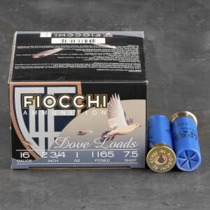 "25rds – 16 Gauge Fiocchi Game & Target 2-3/4"" 1oz. #7.5 Shot Ammo"