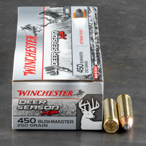 20rds – 450 Bushmaster Winchester Deer Season XP 250gr. Extreme Point Ammo