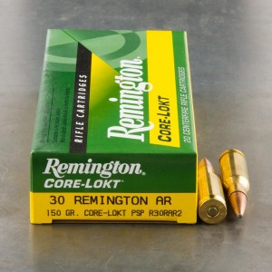 20rds - 30 Remington AR Core-Lokt 150gr. Pointed Soft Point Ammo