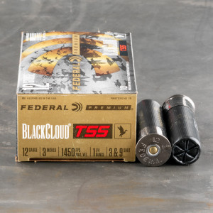 "10rds – 12 Gauge Federal Black Cloud TSS 3"" 1-1/4oz. #3 Flitestopper/#9 TSS Shot Ammo"