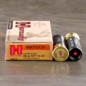 """5rds - 12 Gauge Hornady 2 3/4"""" 300gr. SST Sabot Slug Ammo"""
