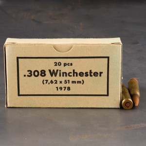 500rds – 308 Win Sellier & Bellot Military Surplus 70's Production 147gr. FMJ Ammo *Corrosive*