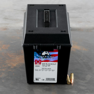 200rds – 300 AAC Blackout Hornady American Gunner 125gr. HP Ammo in Field Box