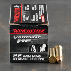 50rds - .22 Mag Winchester Supreme 34gr. Hollow Point Ammo