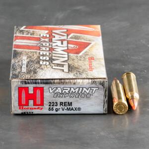 20rds - .223 Hornady Varmint Express 55gr. V-Max Ammo