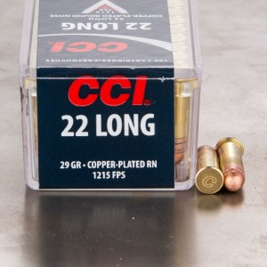 100rds - 22 Long CCI HV 29gr. Lead Round Nose Ammo
