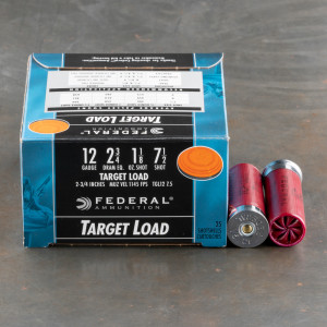 "25rds - 12 Gauge Federal Top Gun Target Load 2 3/4"" 1 1/8oz. #7 1/2 Shot"