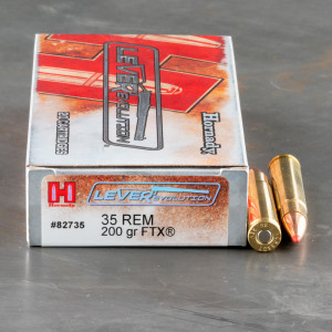 20rds – 35 Rem Hornady LEVERevolution 200gr. FTX Ammo