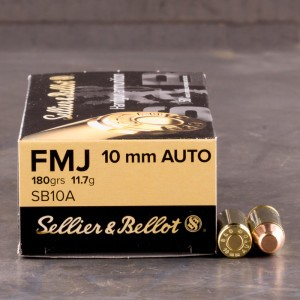 1000rds - 10mm Sellier & Bellot 180gr. FMJ Ammo
