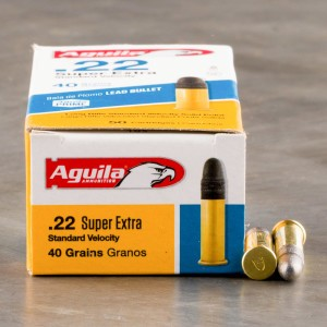 50rds - 22LR Aguila Standard Velocity 40gr. Solid Point Ammo