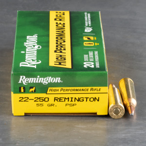20rds - 22-250 Remington Express 55gr. Pointed Soft Point