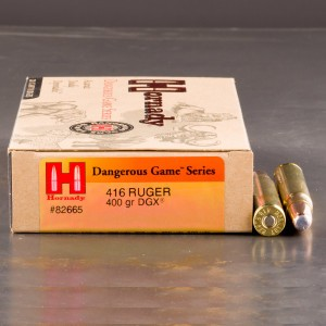 20rds - 416 Ruger Hornady 400gr. Dangerous Game eXpanding Series Ammo