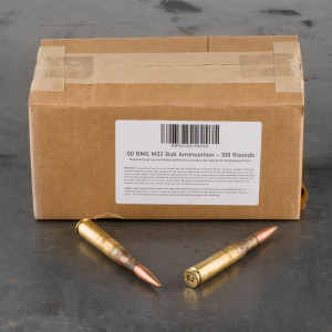 100rds – 50 BMG Lake City 660gr. FMJ M33 Ammo