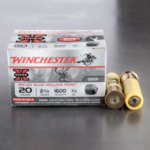 "15rds - 20 Gauge Winchester Super-X 2 3/4"" 3/4oz. Rifled Slug"