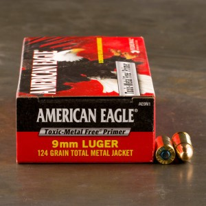 1000rds - 9mm Federal American Eagle IRT 124gr. TMJ Ammo
