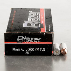 50rds - 10mm CCI Blazer 200gr. Total Metal Jacket Ammo