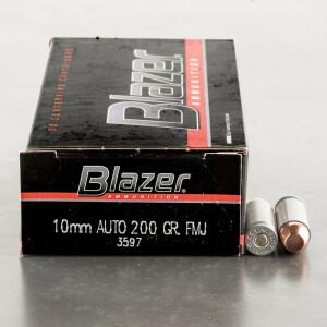 50rds – 10mm Blazer 200gr. TMJ Ammo