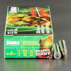 20rds – 223 Rem Sierra Prairie Enemy 55gr. BlitzKing Ammo