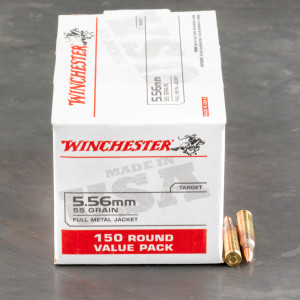 150rds – 5.56x45 Winchester USA 55gr. FMJ Ammo