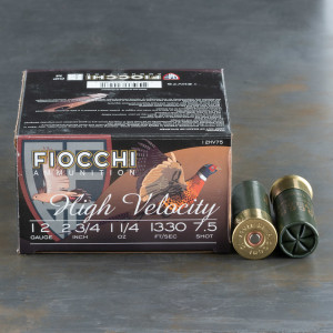 "25rds - 12 Gauge Fiocchi Optima Specific HV 2 3/4"" 1 1/4 oz. # 7 1/2 Shot Ammo"