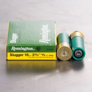 "5rds - 16 Gauge Remington Slugger 2 3/4"" 4/5oz. Rifled Slug"