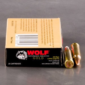 1000rds – 223 Wolf Gold 55gr. FMJ Ammo