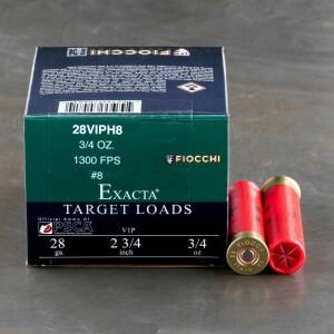 "250rds – 28 Gauge Fiocchi 2-3/4"" 3/4oz. #8 Shot Ammo"