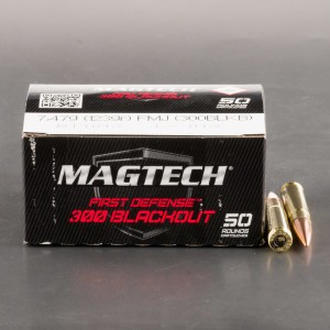 50rds - 300 AAC Blackout Magtech First Defense 123gr. FMJ Ammo