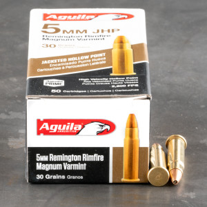 50rds – 5mm Rem Mag Aguila 30gr. JHP Ammo