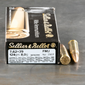 600rds - 7.62x39mm Sellier & Bellot 123gr. FMJ Ammo