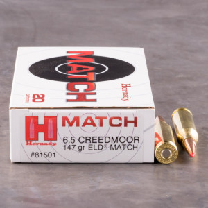 200rds – 6.5 Creedmoor Hornady 147gr. ELD Match Ammo