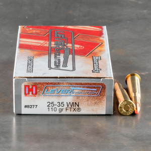 20rds - 25-35 Win Hornady LEVERevolution 110gr. FTX Ammo