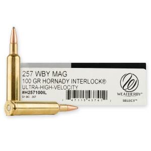 20rds – 257 Weatherby Magnum Weatherby 100gr. InterLock Ammo