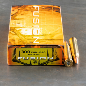 20rds - 300 Win. Mag. Federal Fusion 180gr. SP Ammo