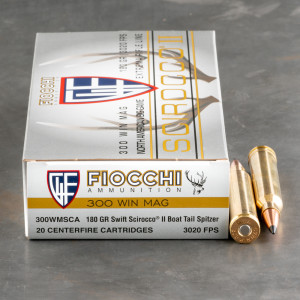 20rds – 300 Win Mag Fiocchi Extrema 180gr. Polymer Tipped Spitzer Ammo