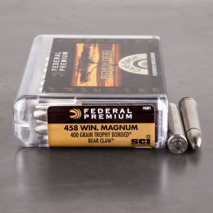 20rds - 458 Win. Mag Federal Cape-Shok Premium Safari 400gr. Trophy Bonded Bear Claw Ammo
